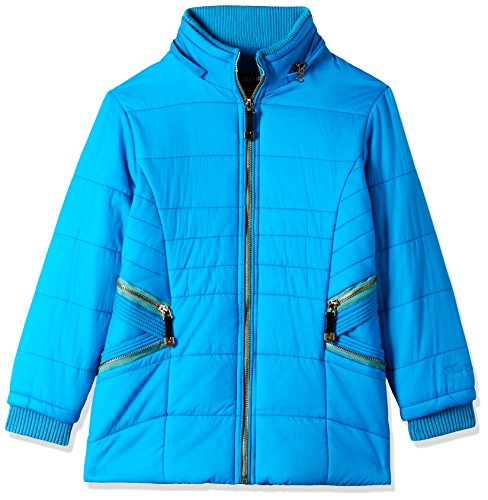 Fort Collins Girls' Regular Fit Synthetic Jacket (10213_Firozi_28 (8 - 9 years))