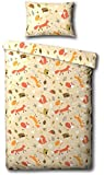 Foxes, Owls & Friends Single Duvet Cover Bed Set - Including Matching Pillowcase
