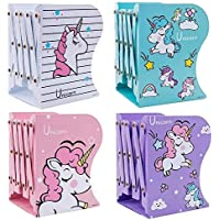 Ash & Roh Expandable Bookcase Desktop Bookend Stand Holder Adjustable Book Rack for Kid Office Book Organizer (Box Book…