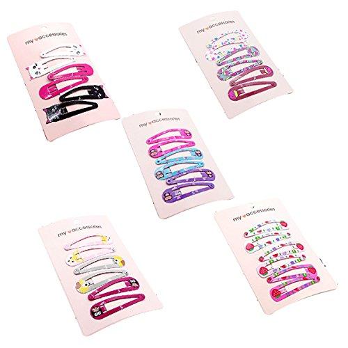 Frcolor 5PCS Snap Haarspangen keine Slip Metallclip Haarspangen für Mädchen