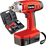 Clarke CIR220 24V Cordless Impact Wrench 4500635 2 X Batteries Sockets & Case