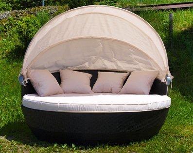 XXL Sonneninsel Strandkorb Sonnenliege Lounge Rattan von Linder auf Gartenmöbel von Du und Dein Garten