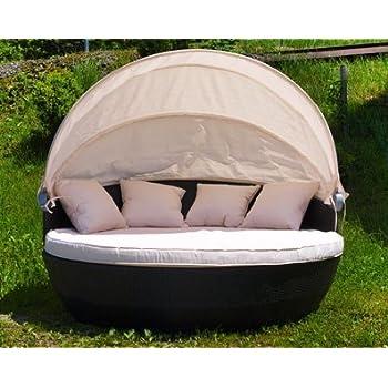 Amazon.de: XXL Sonneninsel Strandkorb Sonnenliege Lounge