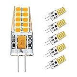 G4 LED, Ascher 5er Pack G4 LED Birnen, 3W, 20 X 2835 SMD LED, Ersetzt 30W Halogenlampen, 300LM, Warmweiß,12VDC/AC, 360°Abstrahlwinkel LED Lampen Leuchtmittel