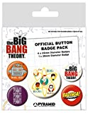 The Big Bang Theory Badge Pack Characters Bazinga Penny Nue offiziell 5 X Button