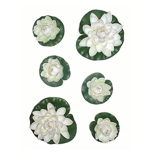 winomo-6pcs-artificial-pond-plants-lotus-lilies