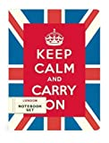 Cavallini - Set da 2 TACCUINI - Metropolitana di Londra & Keep Calm - foderate & GRAFICO Arredamento - 96 pagine al libro