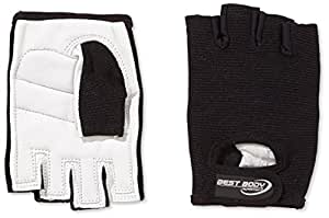 Best Body Nutrition Handschuhe Paar 246790, Gr. Small, Schwarz/Weiß