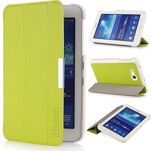 iHarbort® Samsung Galaxy Tab 3 7.0 Lite Funda - ultra delgado ligero Funda de piel de cuerpo entero para Samsung Galaxy Tab 3 7.0 Lite (SM-T110 SM-T111 SM-T113 SM-T116) (Galaxy Tab 3 7.0 Lite, verde)