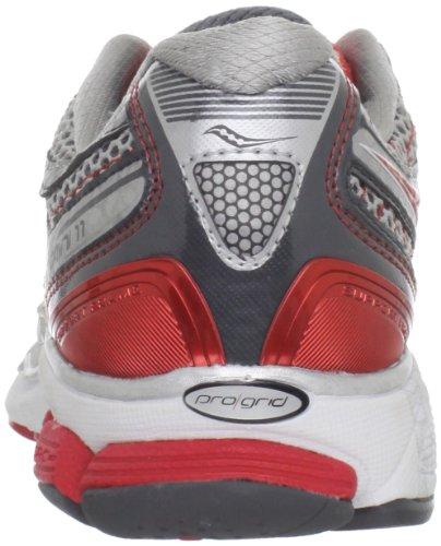 SAUCONY Pro Grid Omni 11 Scarpa da Running Donna Silver/Grey/Red