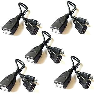 pagina web masivo: Westeng 5pcs 20cm Micro USB OTG a USB, Adaptador de Doble Cabezal, Micro USB, co...