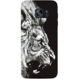 Casotec Angry Lion Design Hard Back Case Cover for Samsung Galaxy S7 Edge