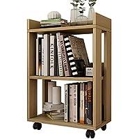 MEIDUO Estantería pequeña de los pequeños de madera minimalistas modernos, estante simple desprendible de la rueda de correa creativa del piso de la librería - mueblesdebanoprecios.eu - Comparador de precios