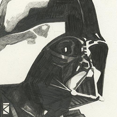 "Star Wars \""Darth Vader Sketch, 30 x 30 cm, Leinwanddruck, Mehrfarbig"