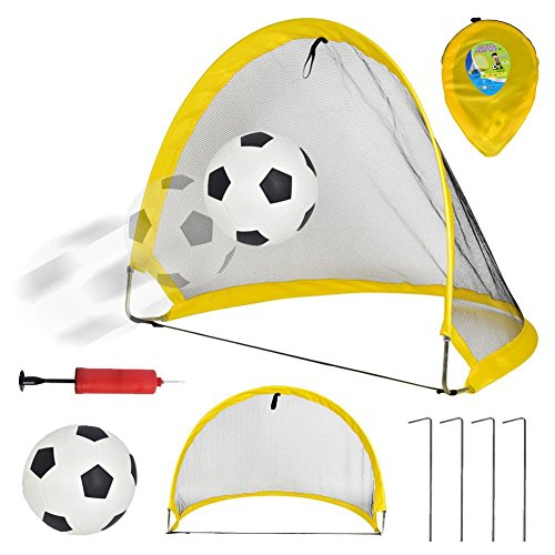 PROKTH 68cm Pop Up Goal with Football  Children s Outdoor Sports Toy