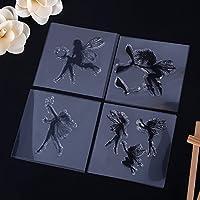 CALISTOUK Varied MINI Little Fairy Pattern Transparent Rubber Stamp Seal DIY Album Craft Scrapbooking Decoration,02