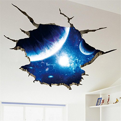 Pegatinas pared 3D decoración habitación 90 x 60