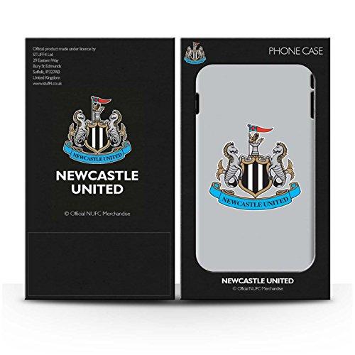 Officiel Newcastle United FC Coque / Etui pour Apple iPhone 4/4S / Mono/Blanc Design / NUFC Crête Football Collection Couleur/Gris