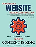 Profitable Website Under Construction - Step 2: Content is King: A Proven Step-by-Step System for Building an Amazing Money Making Website that Generates Income for a Long Term (English Edition)