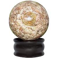 Crocon Sunstone Reiki Healing orgone Kristall Kugel Ball mit Ständer, für Chakra, Aura-& EMF-Schutz 55mm preisvergleich bei billige-tabletten.eu