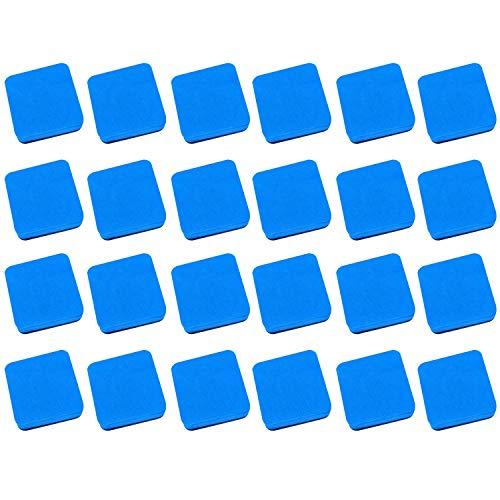 Whiteboard,Magnettafel,24 stücke EVA Quadratische Form Magnetic Dry Whiteboard Radiergummis Tafel Reiniger für Kinder Kinder Home Office Schule Klassenzimmer