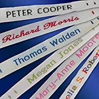 72 Woven Sew in Name Tapes Labels for School, Care Home, Daycare