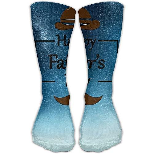 SDGSS 11.8 Inch/30cmTube Knee High Socks Design Happy Father's Day Fashion Art Knee High Socks For Women &Girl