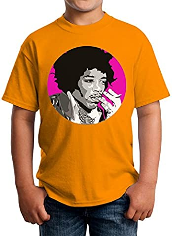 Jimmi Hendrix Purple Haze Circled Design Kids Unisex T-shirt 5-13 Ages X-Large