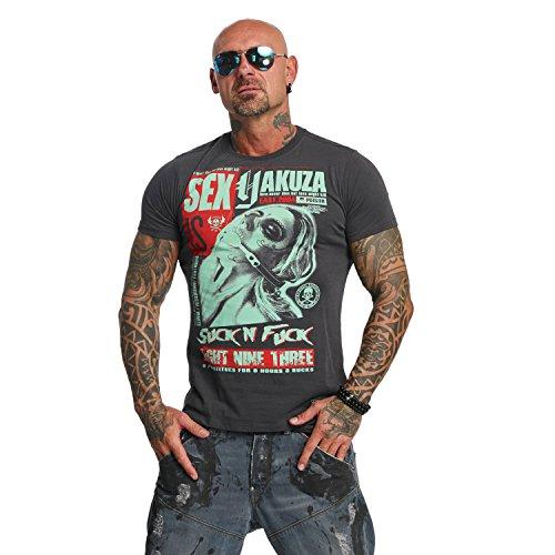 Yakuza Original Herren Suck N Fxck T-Shirt Ebony