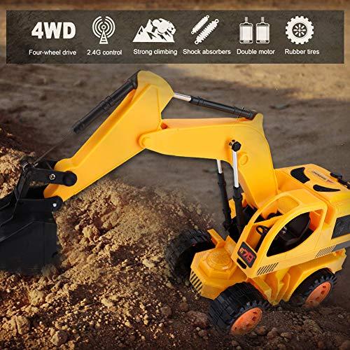 RC Auto kaufen Baufahrzeug Bild 4: Dilwe RC Bagger, 5CH Full Functional Fernbedienung Bagger Baufahrzeug Bagger Traktor*