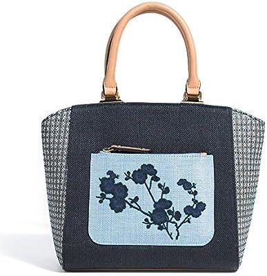 Parfois - Bolsos Plastico/Palha Shopper Azul Marino - Mujeres