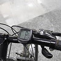 Arvin87Lyly Odómetro de Bicicleta Tabla de Códigos de Bicicleta Alámbrica Impermeable Multifuncional Velocímetro de Bicicleta