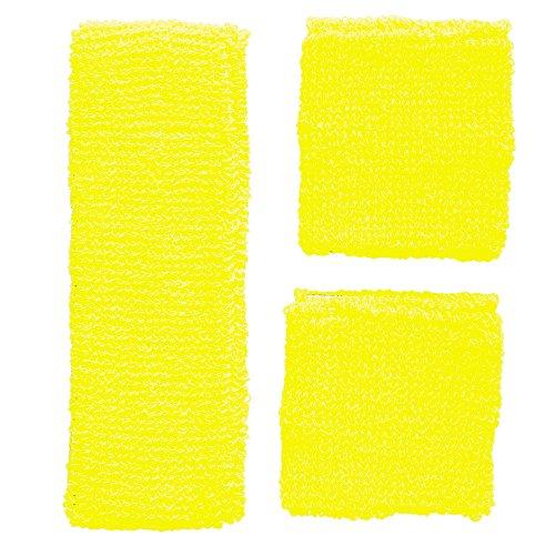 Widmann 05835 - Schweißbänder, Stirnband und 2 Armbänder, One Size, neon (Damen-frottee-trainingsanzug)