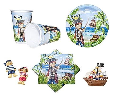 Partyset Max der Pirat 63-teilig Teller, Becher und Servietten