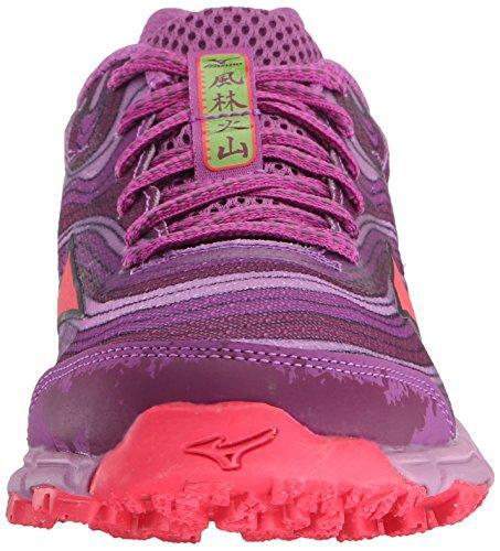 Mizuno Wave Kazan Large Synthétique Chaussure de Course Purple-Pink-Purple