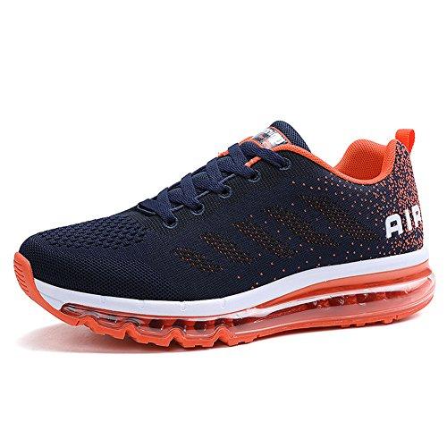 Unisex Herren Damen Sneakers Sportschuhe Bequeme Laufschuhe Schnürer Air Running Shoes 35-45(833OR42)