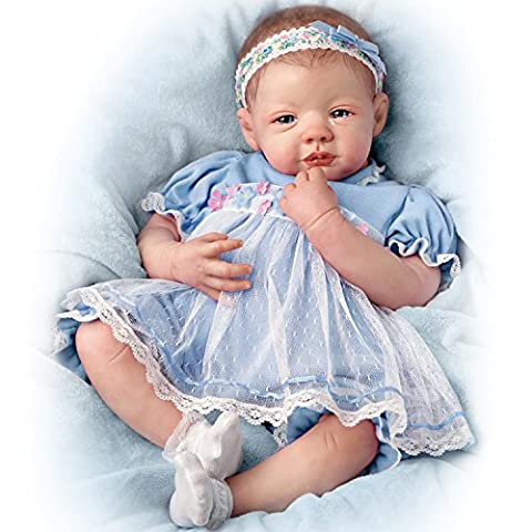 Ashton Drake - Realistic Baby Doll Designed by Marissa May in Sky-Blue Gown - Teary Eyes and RealTouch Vinyl Skin