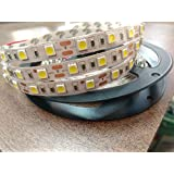 5Meter Non-Waterproof WHITE Flexible LED Strip + Adapter DC 12V, 5050 SMD, Decorative Light- By Lance Retail (TM)
