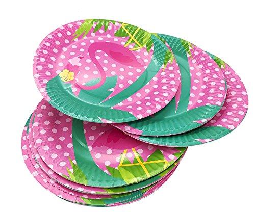 17,8cm Flamingos Papier Party Teller 24/Set, inklusive Top beliebtes Flamingos | perfekt für Geburtstage, Partys, Handwerk, Preise, und Spiele Round