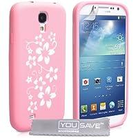 Yousave Accessories Floral Silikon Gel Cover für Samsung Galaxy S4–parent