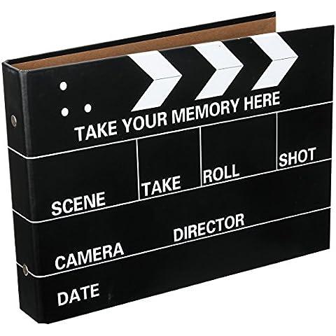 [Fujifilm Instax Mini Foto Album] - CAIUL 50 Pagine DIY Album per Mini 8 70 7s 25 50s 90/ Pringo 231/ Instax SP-1/ Polaroid PIC-300P/ Polaroid Z2300 Film (Film Clapboard) - Snap Pagina Protezioni