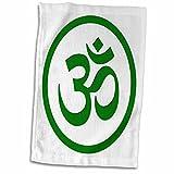 3dRose Om, Namaste Serviette, Vert, 15x 55,9cm