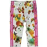 adidas Originals MÄDCHEN Flower Fruits Hose Baby Kinder Leggings Weiss PINK, Größe:68, Farbe:Mehrfarbig