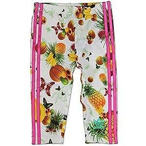 adidas Originals Niña Flower Fruits Leggings para Baby Niños Blanco Rosa