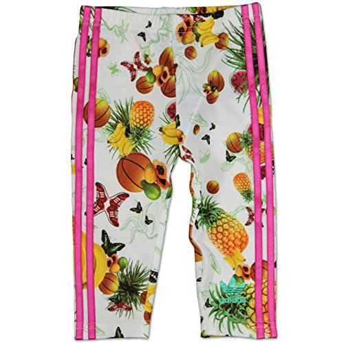adidas Originals Niña Flower Fruits Leggings Para Baby Niños Blanco Rosa