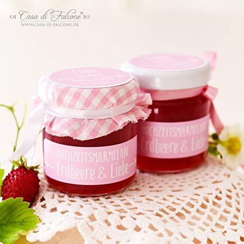 Hochzeit Etiketten für Marmeladengläser | Pfeil | 60x18mm, eckig, abgerundet | 20, 50, 100, 200 oder 1.000 Stück (18 Pfeile)