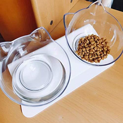 Beito Chat Bol de Nourriture avec Support Surélevé pour Animal Domestique Bol de Nourriture Idéal pour Chats et Chiens de Petite Taille
