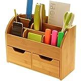 Schreibtisch Stationery Organizer Box Schreibtischset aus natürlichem Bambus