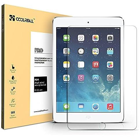Coolreall iPad mini 1/2/3 Vidrio Templado Protector de Pantalla para Apple iPad mini 1/2/3 (alta Definicion 0.33mm