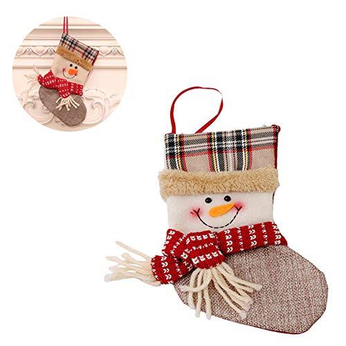 Calze da decorazione natalizia decorazioni natalizie calze natalizie sacchetti regalo per bambini festival candy socks scena ciondolo albero di natale,c